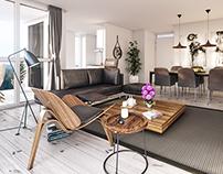 3 Interiors appartments | CGI