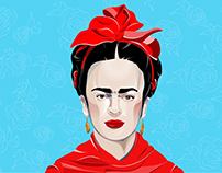 Frida created in Adobe Illustrator