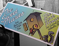 """""""Bandit Jack & the Treehouse Blues"""" -Illustrated Poster"""