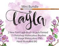 """Beautiful Mini bundle Font """"Layla"""""""