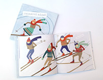 """Ash Wood Ski Poems"" book illustrations"
