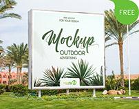 Outdoor Advertising Free PSD MockUp