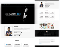 Personal Portfolio Website Template Design 2