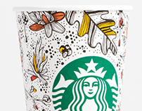Starbucks Fall Illustrations