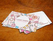 Business Identity Branding in Candies Sweeets Theme