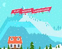 Flat Winter Landscapes