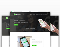 Whatsapp Landing Page Redesign