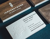 2-Ply Wood & Cotton Business Cards