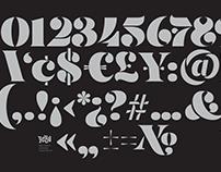 Fat Stencil Numerals