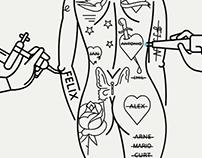 WEWI / Tattoos zu entfernen