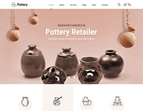 Pottery Website template