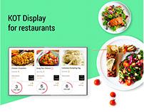 KOT Display for restaurants