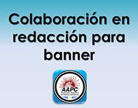 Colaboración para la redacción de texto de banner AAPC