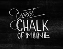 Chalkboard Art Lettering