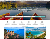 Travel website. U.I/U.X
