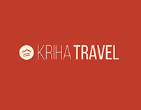 Kriha Travel agency, logo and brochure