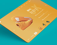 Sports shoe e-commerce UX design