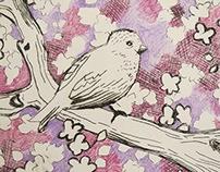 Spring bird prints
