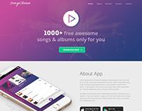 Music App Page Design