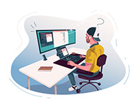 Work at home Illustration-02