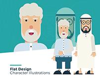 Flat Design - Character Illustrations