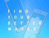 Watter App. Landing page