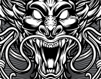 Dragon Vector - Tshirt Design Template