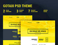 GOTAXI - Modern website psd template
