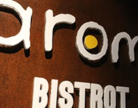 Signboard for Aromi Bistrot