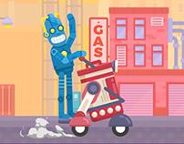 Happy Racing Characters - Racer Robot