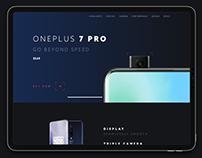 OnePlus 7 Pro - Landing Page UI/UX