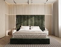 Contemporary bedroom design and vizualization