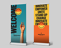 Minderoo Foundation pull-up banner