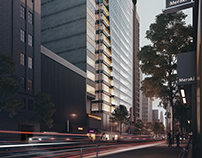 3d Exterior rendering - Commercial Tower