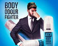 Kick Body Odour Fighter Banner Design