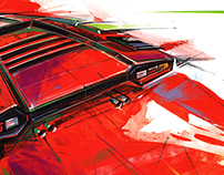 Art lamborghini countach