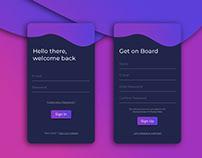 Login/Sign Up Screen
