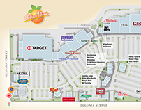 Map illustrations for lifestyle shopping centers