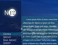 No 12 Restaurant Web Sitesi