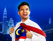 Malaysia National Day 60th Banner Design