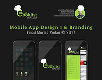 Cooklist Mobile App Design & Branding 1