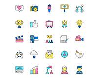Influencer Icons Set
