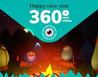 Happy new year! 360º-video greetings