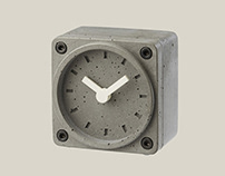 Concrete Table Clock / TimeBrick