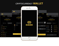 Gold Blocks Cryptocurrency Wallet.
