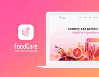 Foodcare Restaurant Landing Page Design