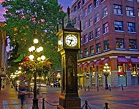 Text: Places to visit in Vancouver: Gastown