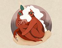 Goddesses of Food: Illustration series