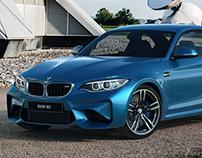 BMW M2 Long Beach Blue CGI