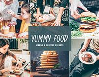 Free Yummy Food Mobile & Desktop Lightroom Presets